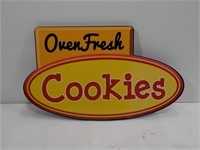 HEAVY DUTY NEW UNUSED OVEN FRESH COOKIES SIGN