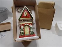 LOT OF 2 NEW CHRISTMAS CANDLE HOLDERS