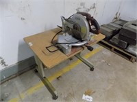 GOOD WORKING TOOL SHOP SAW AND ROLLING TABLE