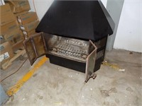 NICE VINTAGE WOOD STOVE WITH BLOWER ON BACK