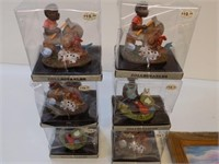 6 NEW BLACK AMERICANA FIGURES, PIC AND *