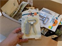 NEW WINE CORK PULLERS, BRUSHES, CAN OPENERS &