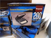 DESKTOP ORGANIZERS AND BUSINESS CARD FILES