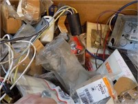 BOX FULL OF NEW OLD STOCK ELECTRICAL ITEMS
