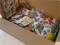 BOX FULL OF OLD BASEBALL FOOTBALL CARDS