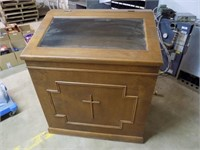 VINTAGE DISPLAY CABINET FROM CHURCH