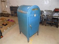 VINTAGE MAIL BOX TURNED INTO HAMPER/WASTE CAN*