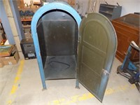 VINTAGE MAIL BOX TURNED INTO HAMPER/WASTE CAN