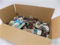 LARGE BOX OF NEW AND USED SWTCHES AND RECEPTACLES