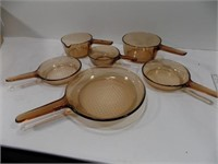 NICE SET OF CORNING VISIONS GLASS COOKWARE