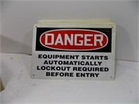 LOT OF 36 DANGER LOCKOUT SIGNS