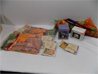 MISC STUFF-FALL THEMED FLAGS, BAKING SODA HOLDERS*