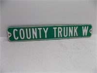 RETIRED COUNTY TRUNK W ROAD SIGN
