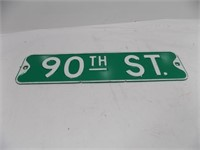 RETIRED 90TH STREET SIGN