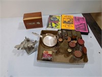 SPICE TINS, VHS MOVIES, AIRPLANE, RECIPE BOX