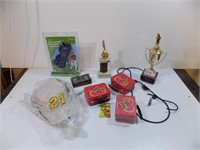 TROPHIES, HATS, TINS REMOTE CONTROL