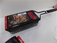 NEW GRILL BASKET AND 2 GRILL BRUSHES