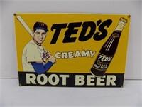 PORCELAIN SIGN-TEDS ROOT BEER*