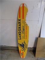 LARGE WOODEN LANDSHARK BEER SURF BOARD