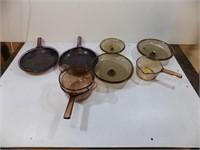 CORNING VISION WARE GLASS PANS