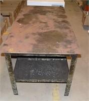 """NICE STEEL WELDING TABLE, 54"""" LONG 28"""" w x 26""""t"""