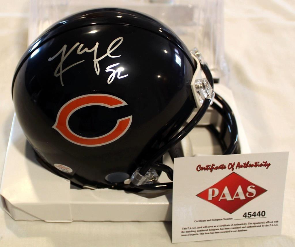 newest collection a729d d409c Kahlil Mack #52 Chicago Bears Mini Helmet | Linnebur ...