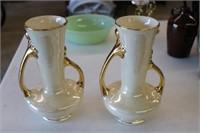 Pearl China Vases 22K Gold