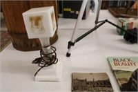 Vintage Milk Glass Children's Bed Lamp