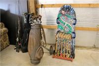 Golf Clubs / Croquet Set /  Wake Board
