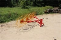 GRIZZLY 3PT MOUNTED 4 WHEEL RIGHT HAND HAY RAKE | SPENCER SALES