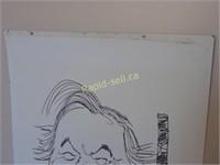 Original Donato Caricature of Bill Davis