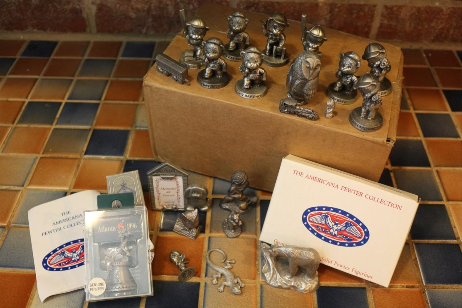 Group of Small Pewter Items | Cates Auction & Realty Co , Inc