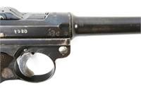 1918 ERFURT LUGER PISTOL DOUBLE DATE ARMY REWORK