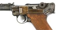 1917 DWM LANGE P08 ARTILLERY LUGER PISTOL 9mm