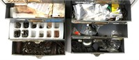 FIREARM PARTS LARGE MIXED LOT IN CABINET