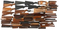 FIREARM STOCK COMPONENTS LARGE MIXED LOT