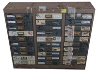 LARGE 30 DRAWER CABINET OF MIXED FIREARM PARTS