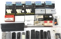LARGE LOT OF SCOPE MOUNTS, MAGS AND MAG PARTS