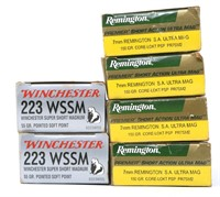 REMINGTON AND WINCHESTER AMMUNITION MIXED LOT