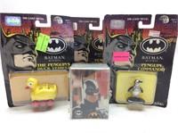 DIE CAST METAL BATMAN FIGURES W/ COMIC CARDS