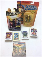 G.I. JOE FIGURE, PLAYING CARDS, VINTAGE POSTER
