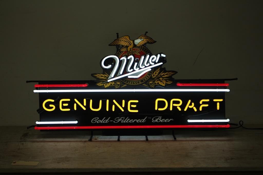 MILLER GENUINE DRAFT BEER NEON SIGN | SPENCER SALES