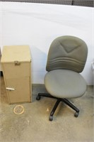 Office Chair (Needs Cleaning) & Filing Cabinet