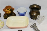 Group of Trays, Vases, etc.