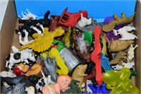 Tray of Toy Animals