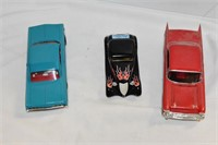 (3) Toy Cars