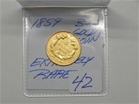 1859 $3 Gold Coin