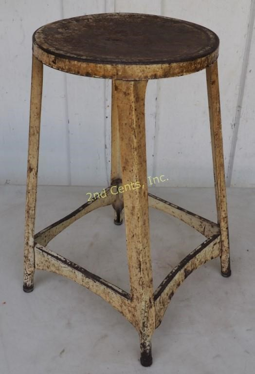 Superb Vintage 20 All Metal Work Bench Stool 2Nd Cents Inc Evergreenethics Interior Chair Design Evergreenethicsorg