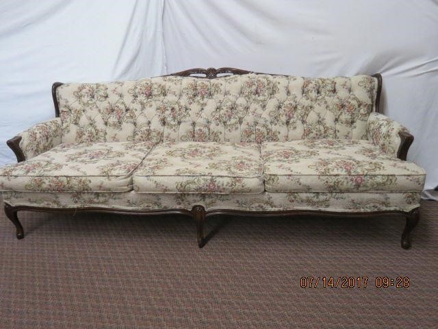 French Provincial Tapestry Upholstered