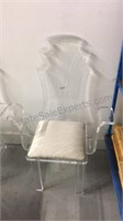 Mid Century Modern Lucite Acrylic Hollywood Chairs